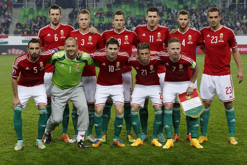 Die Fußball-Nationalmannschaft von Ungarn im Jahr 2018 vor der Fußball WM 2018 (Copyright Shutterstock)