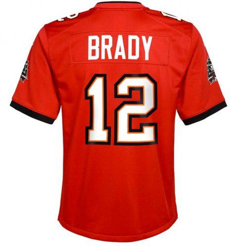 Tampa Bay Buccaneers - Tom Brady Trikot Rückennummer 12 Rückseite